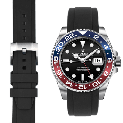 Rolex GMT Black Rubber watch strap