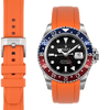 Rolex GMT Orange Rubber watch strap