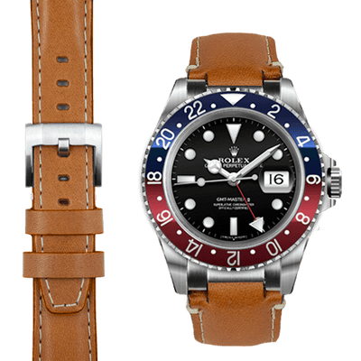 Rolex GMT tan leather watch strap