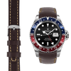 GMT brown leather watch strap