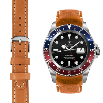 GMT Tan leather watch strap