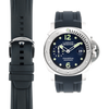 Curved End Rubber Strap for Panerai Luminor Submersible Models with Tang Buckle