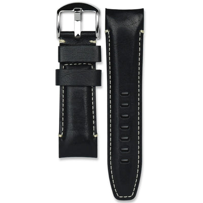 Panerai black leather watch strap