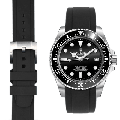 Rolex Sea Dweller Black Rubber watch straps  Edit alt text