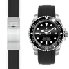 Rolex Sea Dweller black rubber watch strap