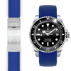 Rolex Sea Dweller blue rubber watch strap