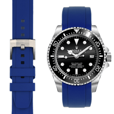 Rolex Sea Dweller Blue Rubber watch straps  Edit alt text