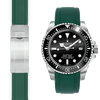 Rolex Sea Dweller green rubber watch strap