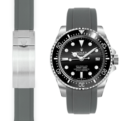 Rolex Sea Dweller grey rubber watch strap