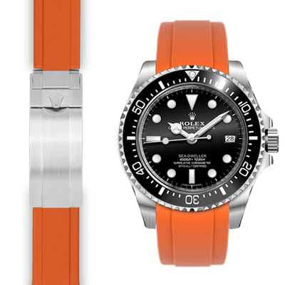 Rolex Sea Dweller orange rubber watch strap