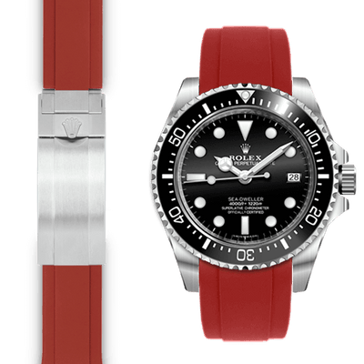 Rolex Sea Dweller red rubber watch strap