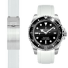 Rolex Sea Dweller white rubber watch strap