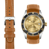 Tudor Black Bay steel tan leather watch strap