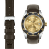 Tudor Black Bay steel chocolate leather watch strap