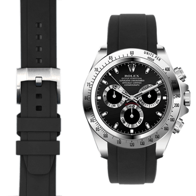 Rolex Daytona Black Rubber Watch Band