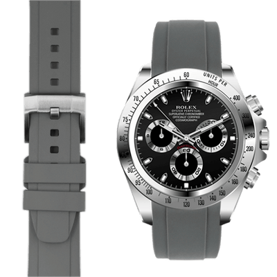 Rolex Daytona Grey Rubber Watch Band