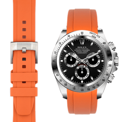 Rolex Daytona Orange Rubber Watch Band