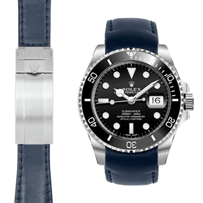 Rolex Submariner blue Leather watch strap