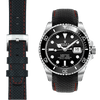 Rolex Submariner black leather watch strap
