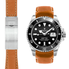 Rolex Submariner Tan Leather watch strap