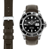 Submariner Chocolate Leather Watch Strap