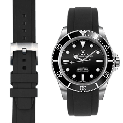 Rolex Submariner Black Rubber watch straps