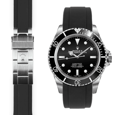 Rolex Submariner black rubber watch strap