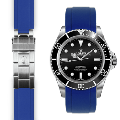 Rolex Submariner blue rubber watch strap
