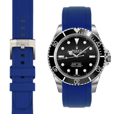 Rolex Submariner Blue Rubber watch straps
