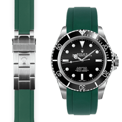 Rolex Submariner Green rubber watch strap
