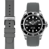 Rolex Submariner Grey Rubber watch straps