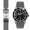 Rolex Submariner grey rubber watch strap