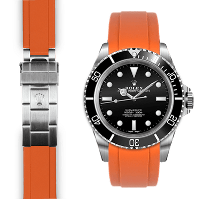 Rolex Submariner orange rubber watch strap
