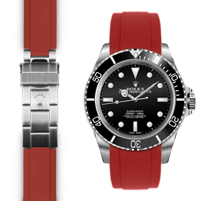Rolex Submariner red rubber watch strap