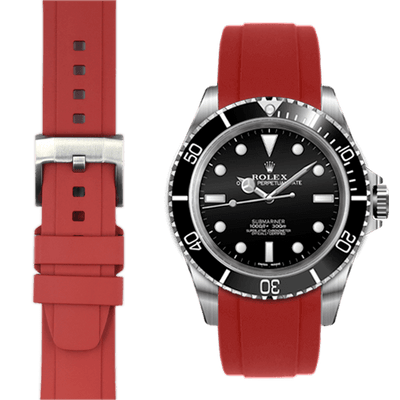 Rolex Submariner Red Rubber watch straps