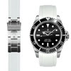 Rolex Submariner white rubber watch strap