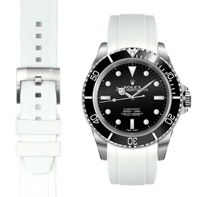 Rolex Submariner white Rubber watch straps