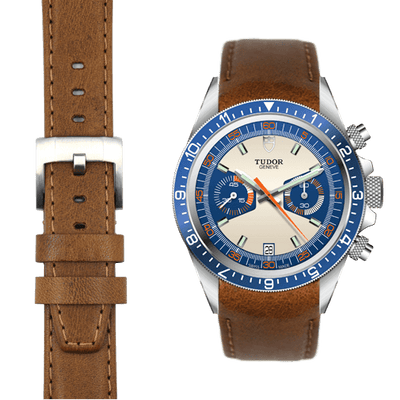 Tudor Heritage Chronograph Chestnut leather watch strap