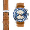 Tudor Heritage Chronograph tan leather watch strap