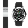 rolex Air King black rubber deployant watch strap