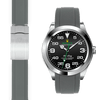 Rolex Air King Grey rubber deployant watch strap