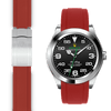 Rolex Air King Red rubber deployant watch strap