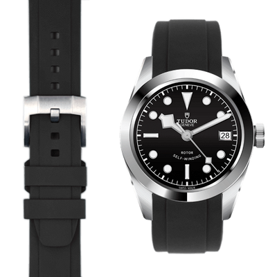 Tudor Black Bay black rubber strap