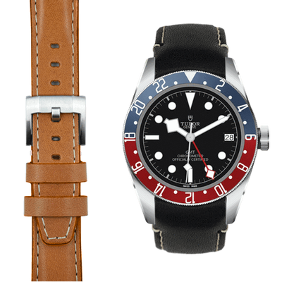 tudor gmt leather watch band