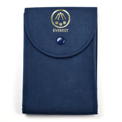 blue large watch travel pouches