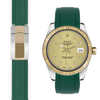 Rolex Datejust green rubber deployant strap
