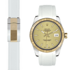 Rolex Datejust white rubber deployant strap