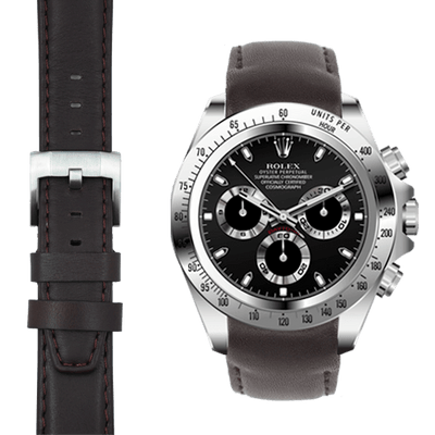 Rolex Daytona brown leather watch strap