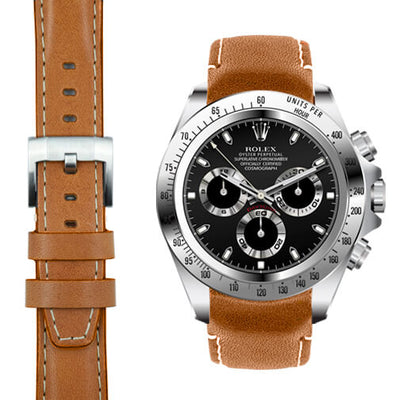 Rolex Daytona tan leather watch strap