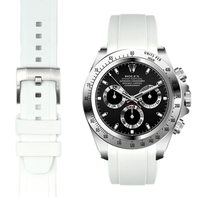Rolex Daytona White Rubber Watch Band